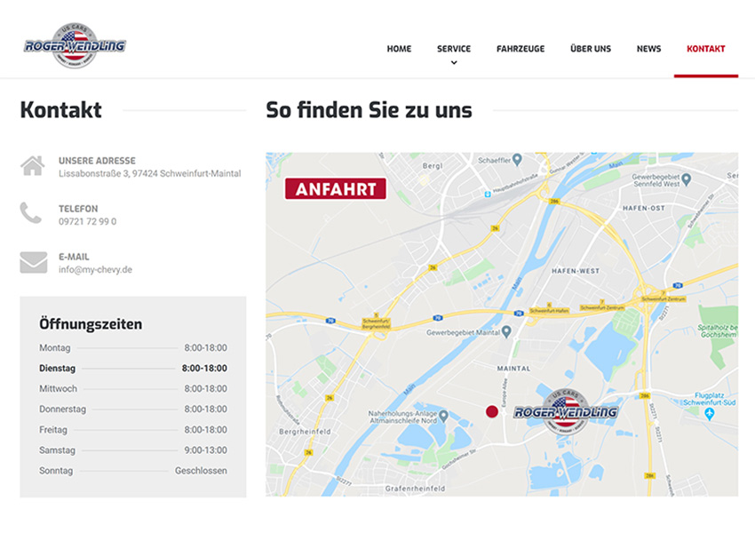 Website Autohaus Wendling
